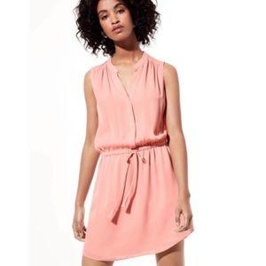 Aritzia Babaton Benedict Dress Coral 100% Silk XXS